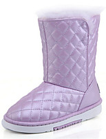 Women's Shoes Low Heel Round Toe Boots Casual Pink / Purple / White / Gold