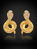 U7®New Luxury Women's Drop Dangle Heart Earrings 18K Gold Plated Austrian Rhinestone Crystal Jewelry Gift for Women
