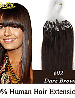 Micro Ring Loop Hair Extensions 100% Real Hair Black Brown Blonde No Tangle 1G/Strands,100Strands/Lot Indian Virgin Hair