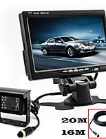 renepai® monitor HD de 7 pulgadas + 170 ° hd cámara de visión posterior del coche cámara resistente al agua la longitud del cable de 10m,