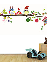 Wall Stickers Wall Decals Style Christmas Owl PVC Wall Stickers