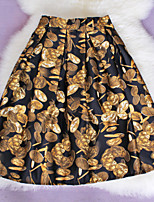 Fashion New Women's Elegant Printing Slim Elastic Waist Skirts