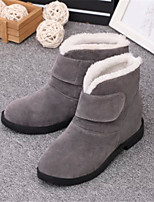 Women's Shoes Low Heel Round Toe Boots Casual Black / Red / Gray