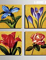 Botanical Print Canvas Quattro Pannelli Pronto da appendere , Quadrato