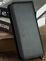 Bi-fold (due scomparti) - Porta assegni - Unisex - PU / Vacchetta - Nero