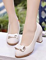Women's Shoes Chunky Heel Pointed Toe Heels Office & Career / Dress Black / Blue / Beige