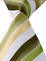 Men Adult Colored Striped Tie Jacquard Business Suit Necktie