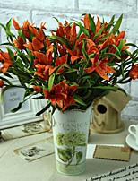 Silk / Plastic Lilies Artificial Flowers 6pcs/set