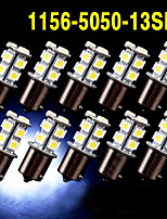 10 X White 1156 BA15S 13-SMD 5050 LED Light bulbs Turn Signal Backup Reverse 12V