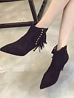 Women's Shoes Cashmere Stiletto Heel Fashion Boots / Pointed Toe Boots Outdoor / Casual Black / Brown