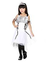 Girl's White Dress , Bow Mesh / Polyester All Seasons