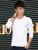 Men's Long Sleeve T-Shirt , Cotton Casual / Work Pure