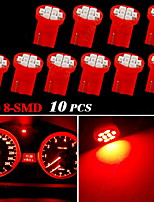 10X Red T10 W5W 2825 158 168 192 921 906 8-SMD LED Speedometer Instrument Light