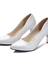 Women's Shoes Leatherette Stiletto Heel Heels Heels Outdoor / Dress / Casual Blue / Pink / White
