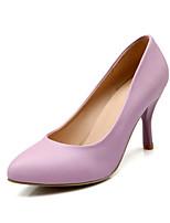 Women's Shoes Leatherette Stiletto Heel Heels Heels Outdoor / Casual Black / Blue / Purple / White / Beige