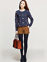 Women's Polka Dot Blue / Red / Beige Pullover , Sexy / Casual Long Sleeve