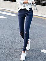 Women Shredded Legging , Polyester Medium
