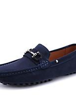 Темно-синий-Для мужчин-Для прогулок Для офиса Повседневный Для вечеринки / ужина-ЗамшаМокасины-Мокасины и Свитер