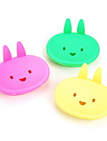 Cartoon Rabbit Women Girs Soap Dish Box Case Bathroom Accessories