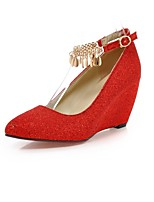 Women's Shoes Wedge Heel Comfort / Pointed Toe Heels Outdoor / Office & Career / Dress / Casual Black / Red / Beige