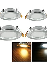 Lampes Encastrées Décorative Blanc Chaud / Blanc Froid YouOKLight 4 pièces 5W 25 SMD 2835 500 LM AC 100-240 / AC 110-130 V
