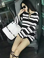 Women's Check Black Pullover Set , Casual Long Sleeve