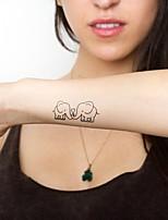 (1pcs) Lovely Elephant New Design Fashion Temporary Tattoo Stickers Temporary Body Art Waterproof Tattoo Pattern HC81