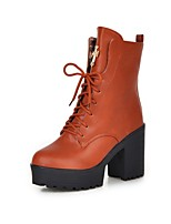 Women's Shoes Chunky Heel Fashion Boots / Comfort Boots Outdoor / Dress / Casual Black / Blue / Yellow
