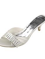 Women's Shoes Satin Low Heel Peep Toe / Combat Boots Sandals Wedding / Office & Career / Party & Evening / Dress