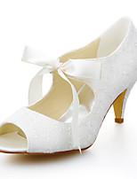 Women's Wedding Shoes Peep Toe Sandals Wedding / Dress Ivory