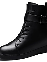 Women's Shoes Synthetic Wedge Heel Snow Boots / Motorcycle Boots Boots Office & Career / Dress / Casual Black / Red