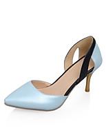 Women's Shoes Leatherette Stiletto Heel Heels Heels Outdoor / Dress / Casual Black / Blue / Gold
