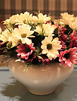 Tv Cabinet Table Decoration Polyester Daisies Artificial Flowers
