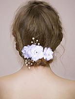Femme / Jeune bouquetière Satin / Imitation de perle Casque-Mariage / Occasion spéciale Peigne / Pique cheveux 1 Pièce