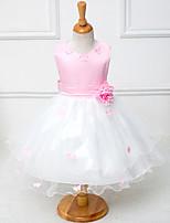 Vestido de Niña Florista - Corte A Hasta la Rodilla - Algodón / Tul / Poliéster Sin Mangas