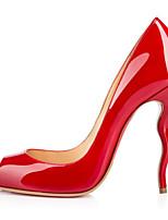 Women's Shoes Patent Leather Stiletto Heel Heels / Peep Toe Heels Wedding / Party & Evening / Dress Black / Red / White