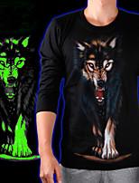 Katoen - Print - Heren - T-shirt - Informeel - Lange mouw