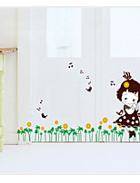Green Grass Wall Decals Removable Decorative Wall Stickers