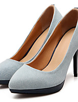 Women's Shoes Leatherette Stiletto Heel Heels Heels Outdoor / Dress / Casual Blue / Navy