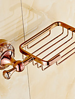 Rose Gold Wall Mounted Soap Basket,Bathroom Accessory