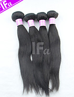 Straight Hair Extension 4Pcs/Lot Peruvian Virgin Hair Human Hair Weaves Natural Black Hair