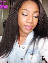 Brazilian Virgin Human Hair 10-26inch in Stock Kinky Straight Natural Look Lace Front Wig