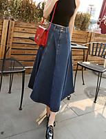 Women's Retro High Waist Denim Skirt