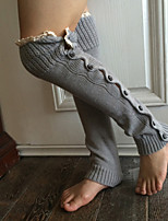 Women Fashion Solid Color Knitwear Warm Leg Warmer Gloves , Casual