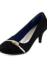 Women's Shoes Cone Heel Comfort / Round Toe Heels Outdoor / Office & Career / Dress / Casual Black