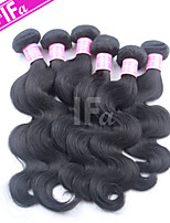 onda del corpo capelli brasiliani 5pcs / lot colore 1b brasiliano trama dei capelli vergini umani