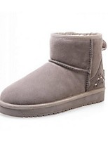 Women's Shoes Platform Snow Boots / Closed Toe Boots Casual Brown / Green / Burgundy / Khaki