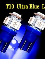 2 x ultra-t10 azul 5-SMD llevó matrícula W5W bombillas 2825 158 192 168 194