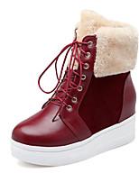 Women's Shoes Wedge Heel Platform / Snow Boots / Round Toe Boots Dress Brown / Yellow / Burgundy