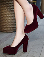 Classic Suede Women's Wedding Thick Heel Platform Pumps/Heels Shoes